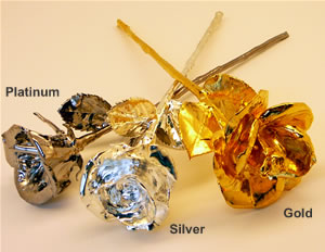 Platinum Roses - Gold Roses - Silver Roses